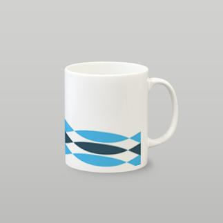 北欧モダンブルー マグカップ