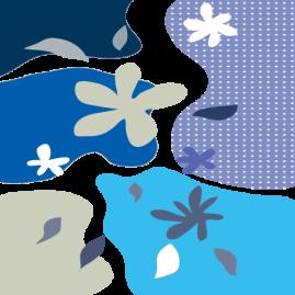 北欧カーブ ブルー
