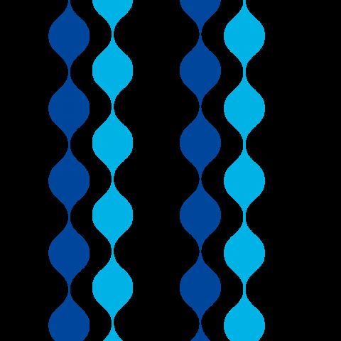 北欧レインドロップ ブルー