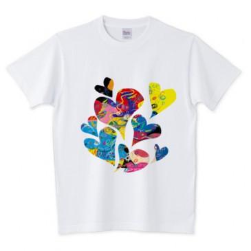 北欧遊びArt ハート Tシャツ